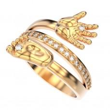 Восковка кольцо нога и рука 9580