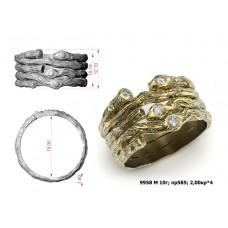 Восковка кольцо 9958