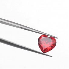 Сердце Цирконий Гранат 10 х 10 мм
